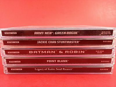 Bundle of 5 Playstation 1 PS1 Cases Only - Army Men, Point Blank, Batman & More!