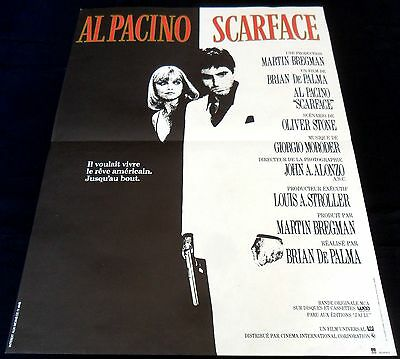 """1983 Scarface ORIGINAL French """"Petite"""" POSTER Al Pacino Michelle Pfeiffer CULT"""