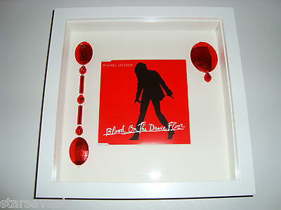 Michael Jackson Prop video USED BEADS with image with part of lyrics in frame MJ