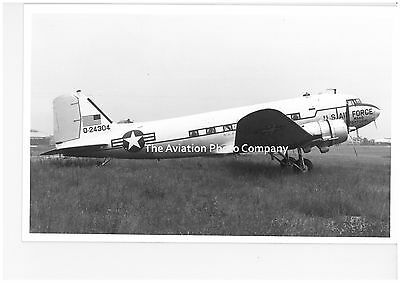 USAF Douglas C-47A Dakota 42-24304 at Le Bourget (1965) Vintage Photograph