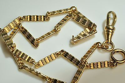 Beautiful Antique 10k  Gold filled Pocket Watch chain fob