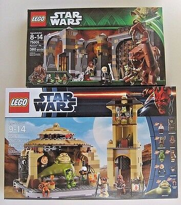 Lego Star Wars Jabba's Palace 9516 & Rancor Pit 75005 Two Set Lot NEW