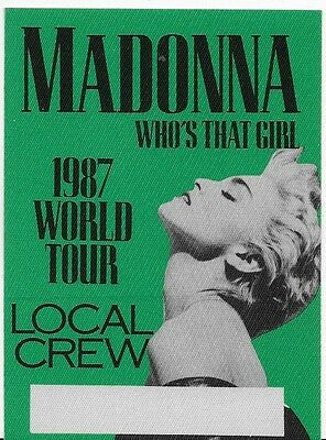 MADONNA 1987 crew backstage pass MINT / UNUSED Herb Ritts photo green
