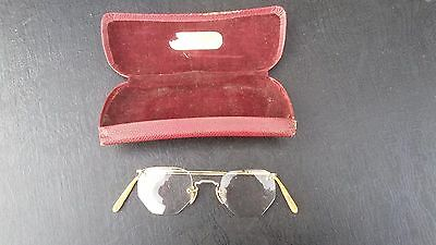 Vintage gold plated spectacles with case