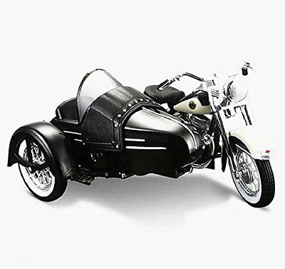 Maisto 1:18 Harley Davidson 1958 FLH DUO GLIDE SIDECAR Motorcycle Model IN BOX