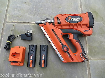 Paslode Im350+ Plus Nail Gun + 2 Batteries Fully Working Excellent Condition