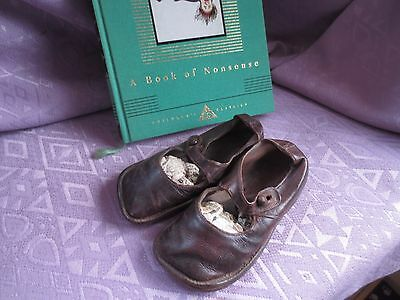 Childs antique leather shoes Early C20th Adorable