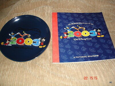 Disney World The Magical Place To Be 2003 Plate and Book
