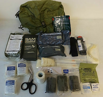 Lots OF Medical Supplies With Case Medical Instrument Supply Bag New