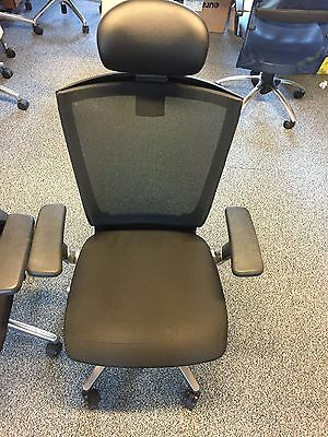 Office Chair Adjustable Computer Study Desk Executive Fabric Swivel - Black