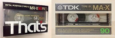 Tdk Ma-X 90 & Thats Mr-X 90 Pro Metal Cassette Tapes - Brand New - Unopened