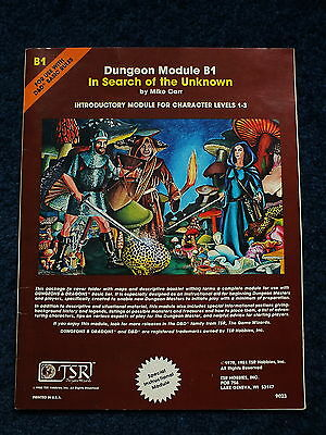 Dungeons & Dragons - Vintage TSR B1 In search of the unknown 1980