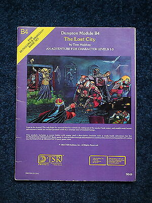 Dungeons & Dragons - Vintage TSR B4 The Lost City 1982