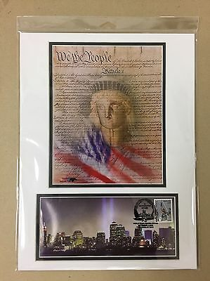 09/11/01 Usps Heroes America Responds Firefighter Stamp Matted Photo Fdoi Cover