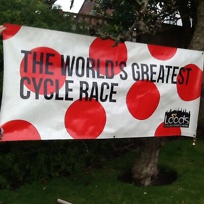 Original Poster As Used On Tour De France Leeds 2014 - Plastic Kind Of Material
