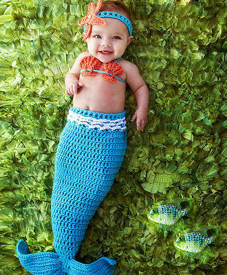Newborn Baby Girls Boys Crochet Knit Hat Costume Photo Photography Prop Outfits