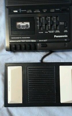 PANASONIC MICROCASSETTE TRANSCRIBER Dictaphone RR930 W Foot Pedal  Works Great!