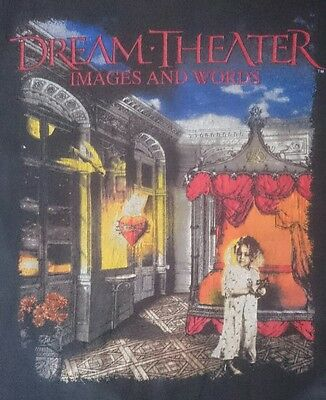 Vintage 1992 Dream Theater Images and Words T-Shirt Gildan Size XXL Prog Metal