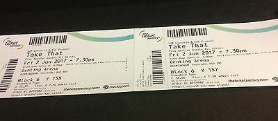 2 x Take That tickets - 2nd June Birmingham Genting Arena