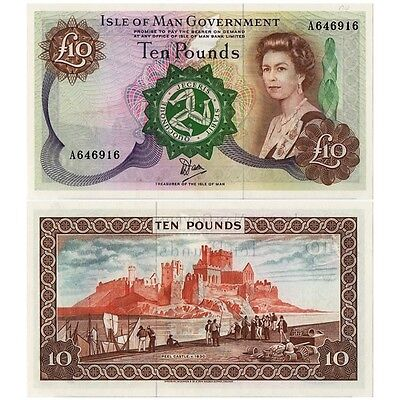 "ND (1979) * Billet Île de Man 10 Pounds ""Elizabeth II"" (p36b) NEUF"