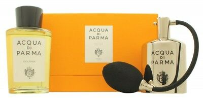Acqua Di Parma Colonia Gift Set 180Ml Edc + Metal Bottle - Women's For Her. New