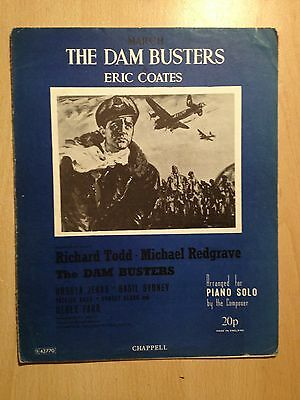 Sheet Music Frame Poster Film Movie The Dam Busters Theme Eric Coates Redgrave