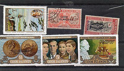 Six COOK ISLANDS stamps ,Used In Good Condition, Cook Islands.