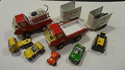 Vintage Tonka Truck/Dune Buggy Lot! Stables Horse Trailer x2 w/Black Horse!