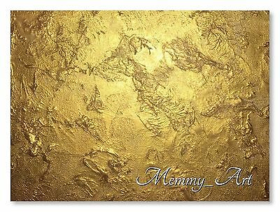 XL UK Contemporary Abstract Textured Gold HAND PAINTED Canvas painting Memmy Art