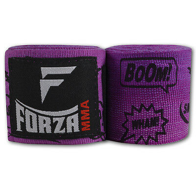 "Forza 180"" Mexican Style Boxing Handwraps - Comic Book Purple"