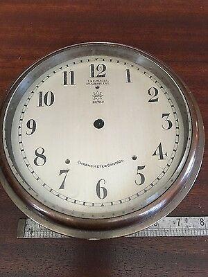 Antique Mercer Chronometer Bronze Clock Case and Silvered Dial