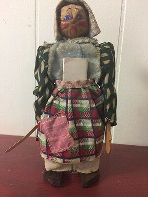 "Grandma Scott Of The Ozarks Doll Hillbilly Dolls Documentation 6 1/4"" USA"
