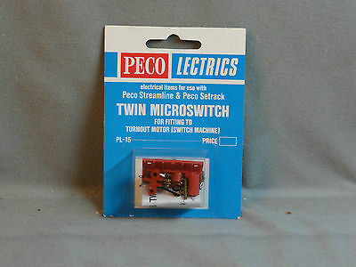 Peco N Scale PL-15 Twin Microswitch for fiting to  turnout motor NEW