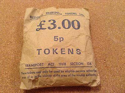 530+ NATIONAL TRANSPORT 5p TOKENS IN SEALED BAGS OF ISSUE