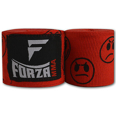 "Forza 180"" Mexican Style Boxing Handwraps - Smileys Red"