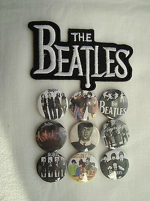 The Beatles Job Lot 9 x  Badges  + Sew on Patch