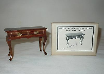 Vtg CONCORD Museum MINIATURES Doll House Queen Anne Sofa Table IOB NOS