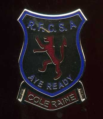 Glasgow Rangers Gers Coleraine Supporters club Pin Badge