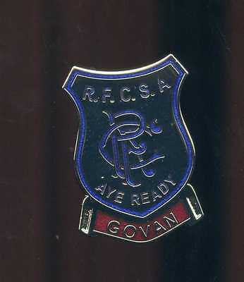Glasgow Rangers Gers Govan Supporters club pin Badge