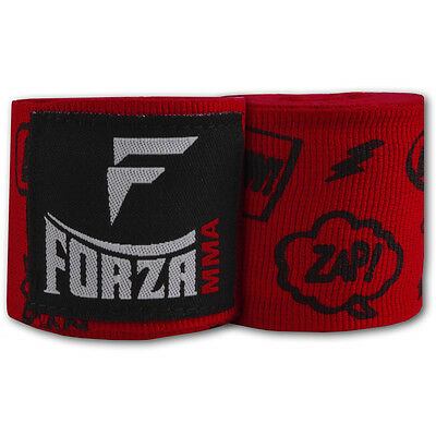 "Forza 180"" Mexican Style Boxing Handwraps - Comic Book Red"