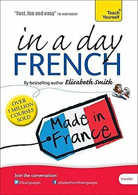 Beginner's French in a Day: Teach Yourself Book by Smith Elisabeth CD-Audio