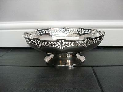BEAUTIFUL STERLING SILVER FRUIT BOWL DISH Birmingham 1946 Mappin & Webb Heavy