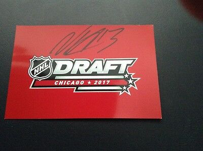 2017 NHL Draft Prospect, NICO HISCHIER  autographed 4x6