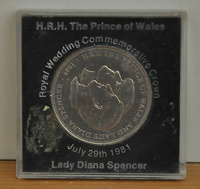 HRH The Prince of Wales Royal Wedding Commemorative Crown July 29th 1981 Coin