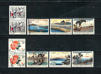 A56, Japan 2014-15, 2 complete sets, used stamps