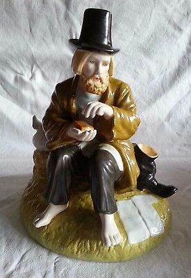 Stunning Russian Porcelain Figure Figurine of Peasant Man 23 cm high