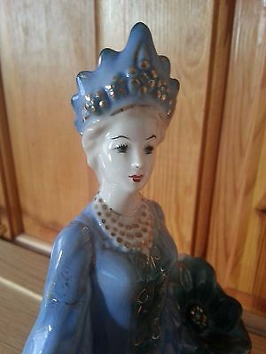 Vintage Russian Queen/Mistress of Copper Mountain Porcelain Figure Figurine Gzhe