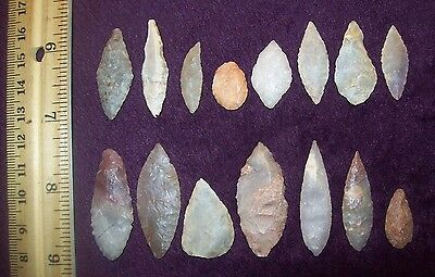Choice Neolithic Arrowheads / Group of 15 (Blades)        #d.4