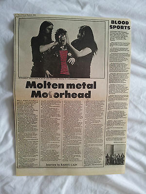 Motorhead-Original 1 Page Interview N Pic-31.3.1979-Lemmy