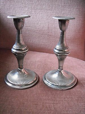 Pair of candle holders made in England